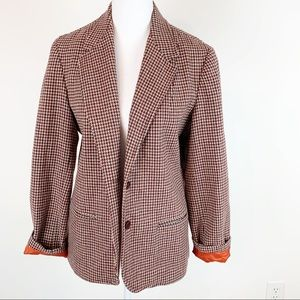 Adoleo Esprit Vintage Houndstooth plaid Blazer
